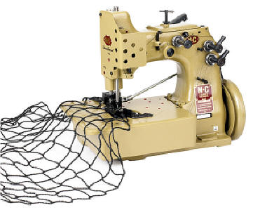 Model 81200TF Heavy-Duty Netting & Rope Machine by N-C Carpet Binding & Equipment Corporation